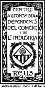 Portada document del CADCI de Reus.